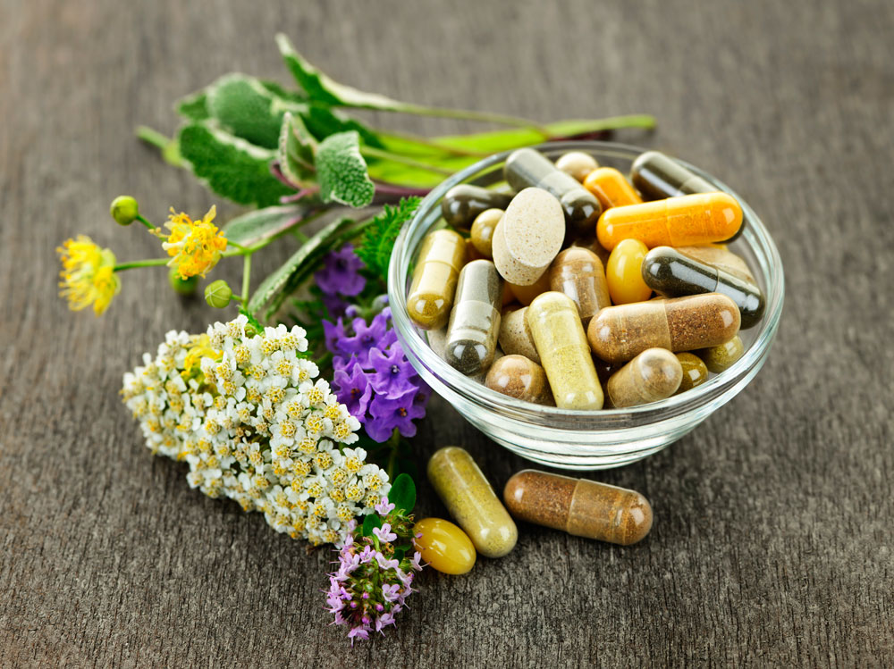 Decorative Bowl of Supplements