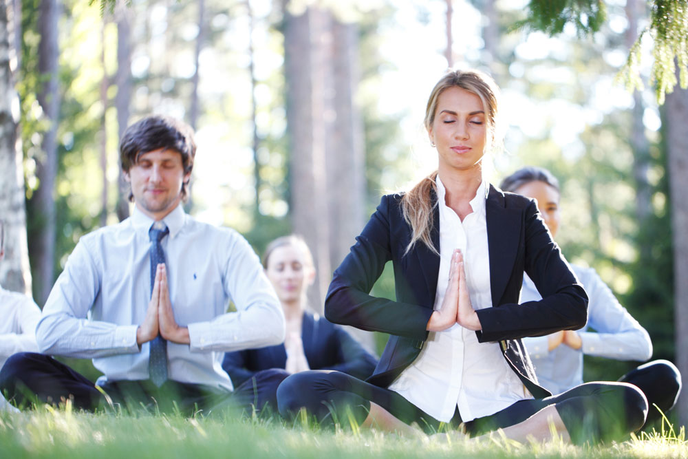Corporate Yoga in Park